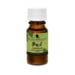 100% Basil Essential Oil, Ocimum Basilicum 10ml - Black Sheep Farm