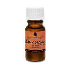 100% Pure Black Pepper Essential Oil, Piper Nigrum Fruit Oil 10ml - Black Sheep Farm