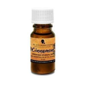 25% Cinnamon Bark Essential Oil in 75% Jojoba Oil, Cinnamomum Zeylanicum 10ml - Black Sheep Farm