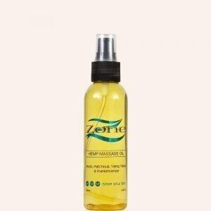 Zone Hemp Massage Oil 135ml - The Good Oil