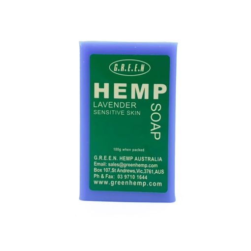Green Hemp Soap Lavender 100g