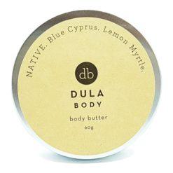 DULA BODY NATIVE Body Butter, Blue Cyprus, Lemon Myrtle