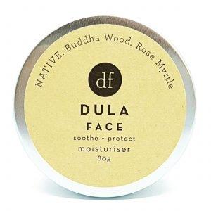 DULA FACE NATIVE Moisturiser, Buddha Wood, Rose Myrtle