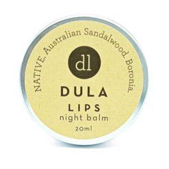 DULA LIPS NATIVE Night Balm, Australian Sandalwood, Boronia