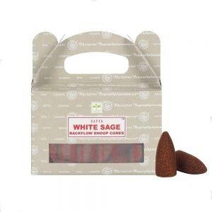 Satya Cones Backflow WHITE SAGE