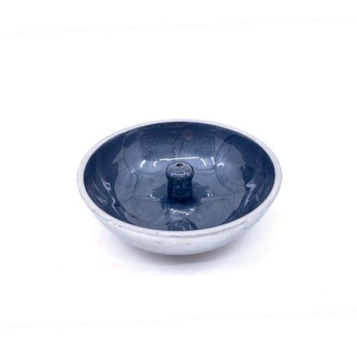 Aluminium Incense Dish BLACK Plain