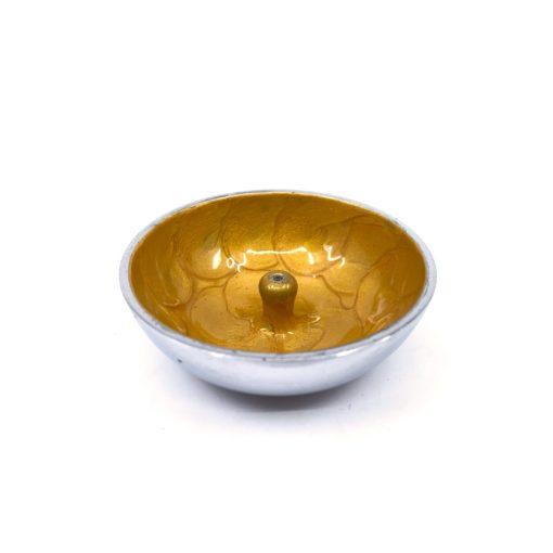 Aluminium Incense Dish YELLOW Plain