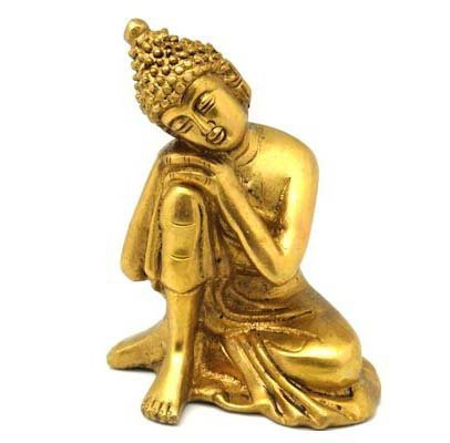 Brass Thinking Buddha