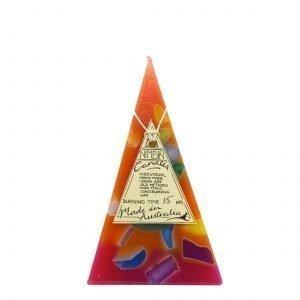 15hr Funky Pyramid Candle Orange - Nimbin Candles