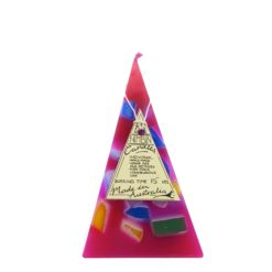 15hr Funky Pyramid Candle Red - Nimbin Candles