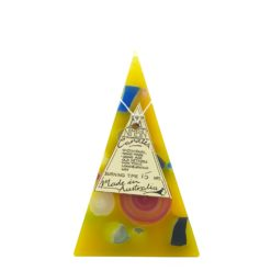 15hr Funky Pyramid Candle Yellow - Nimbin Candles