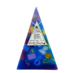 35hr Funky Pyramid Candle Blue - Nimbin Candles