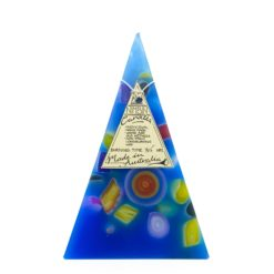 35hr Funky Pyramid Candle Light Blue - Nimbin Candles