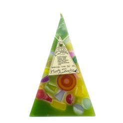 35hr Funky Pyramid Candle Light Green - Nimbin Candles
