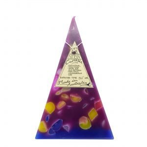 35hr Funky Pyramid Candle Maroon - Nimbin Candles