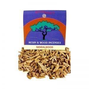 Resins Sandalwood Chips 25g - Moondance Incense