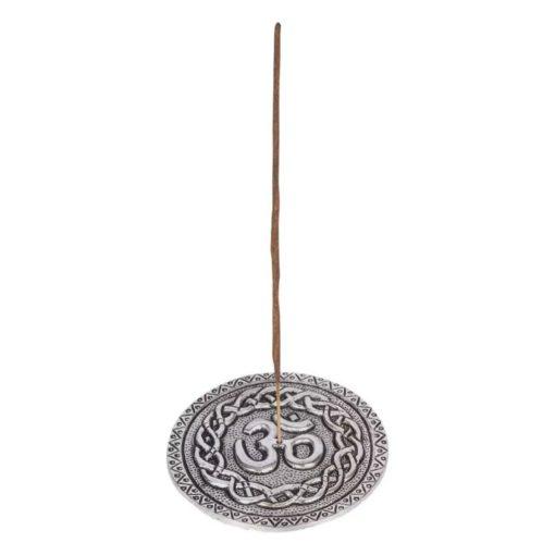 Silver Om Incense Burner