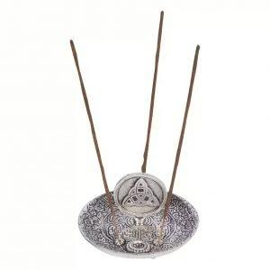 Silver Triquetra Incense Burner