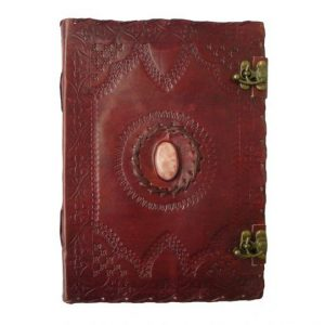 Large Leather Journal – 1 Stone with Clasp