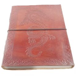 Large Leather Journal - Dragon