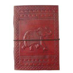 Large Leather Journal - Elephant