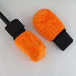 Fluffy Wick Covers for Poi and Staff Orange