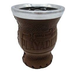 Playadito Gourd Glass And Leather (Brown)