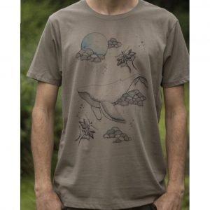 Sky Whale - Organic Cotton Male T'Shirt