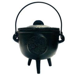 Cauldron Cast Iron With Lid Tree Of Life Large