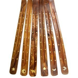 Wooden Flat Ash Catcher with Brass Inlay 46cm