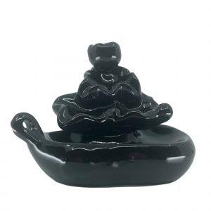 "Ceramic Backflow Cone Burner BLACK WATERFALL ""C"""
