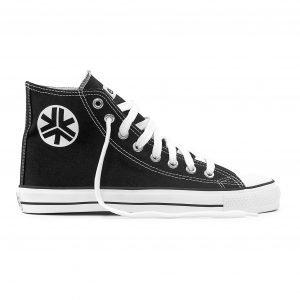Etiko Sneakers Hitops Black & White (white trim)
