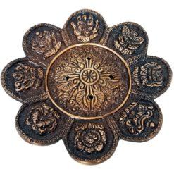 Antique 8 Auspicious Symbols Incense Holder