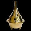 Incense Dhoop Cone Burner BRASS LARGE 9cm