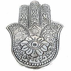 Silver Hamsa Hand Incense Burner