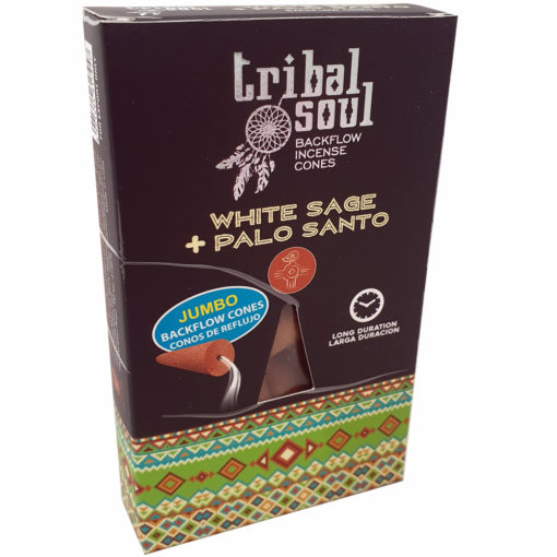 Tribal Soul Back Flow Cones – White Sage & Palo Santo